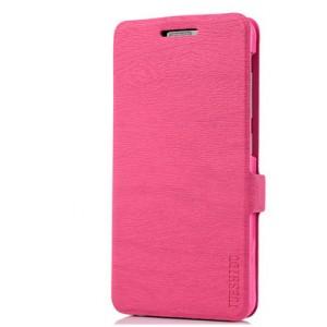 Чехол горизонтальная книжка подставка текстура Дерево на силиконовой основе на магнитной защелке для Asus ZenFone 4 Max Розовый