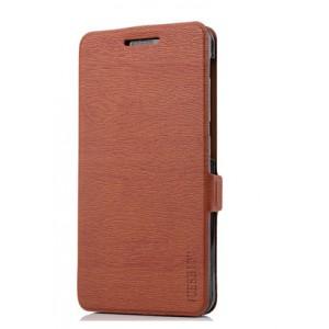 Чехол горизонтальная книжка подставка текстура Дерево на силиконовой основе на магнитной защелке для Asus ZenFone 4 Max Коричневый