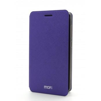 Чехол горизонтальная книжка подставка на силиконовой основе с текстурным покрытием для Xiaomi RedMi 3 Pro/3S Фиолетовый