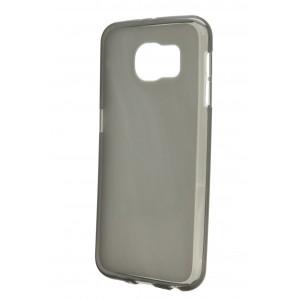 Силиконовый матовый полупрозрачный чехол для Samsung Galaxy S6 Черный