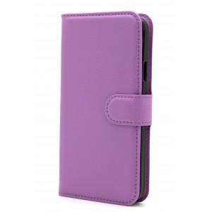 Чехол портмоне подставка на магнитной защелке для Samsung Galaxy S5 (Duos) Фиолетовый
