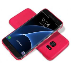 Пластиковый матовый нескользящий премиум чехол для Samsung Galaxy S7 Edge
