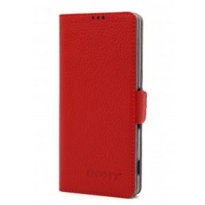 Кожаный чехол горизонтальная книжка подставка на магнитной защелке для Sony Xperia XA Красный