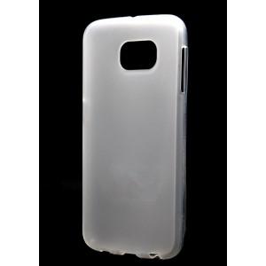 Силиконовый матовый полупрозрачный чехол для Samsung Galaxy S6 Белый