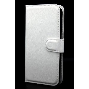 Чехол портмоне подставка на магнитной защелке для Samsung Galaxy S5 (Duos) Белый