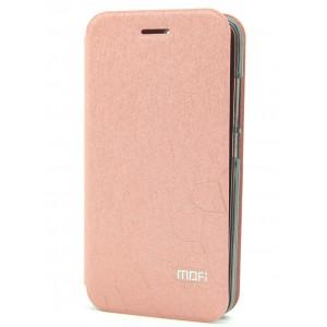 Чехол флип подставка водоотталкивающий текстура Соты для Huawei Honor 4C Pro Розовый