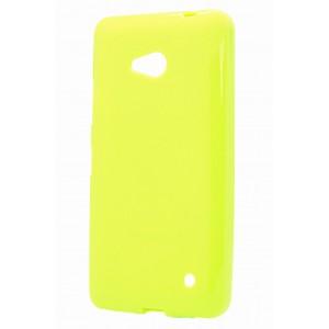 Силиконовый глянцевый непрозрачный чехол для Microsoft Lumia 640 Зеленый