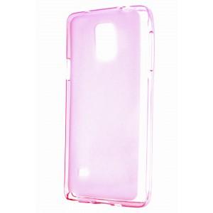 Силиконовый матовый полупрозрачный чехол для Samsung Galaxy Note 4 Розовый