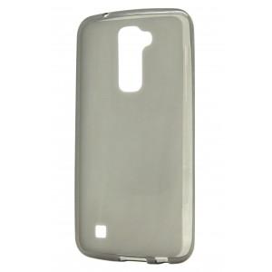 Силиконовый матовый полупрозрачный чехол для LG K10 Серый