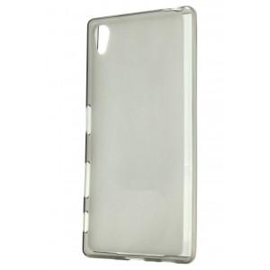 Силиконовый матовый полупрозрачный чехол для Sony Xperia Z5