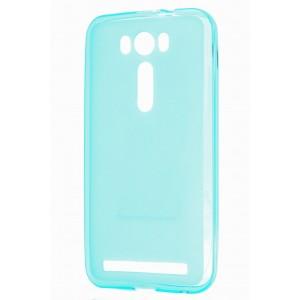 Силиконовый матовый полупрозрачный чехол для ASUS Zenfone 2 Laser 5 ZE500KL Голубой