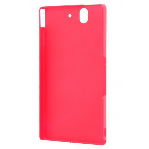 Чехол пластиковый матовый для Sony Xperia Z Красный