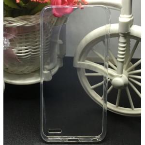 Силиконовый глянцевый транспарентный чехол для LG Q6