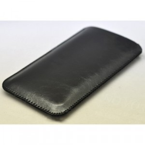Кожаный вощеный мешок для Xiaomi Mi Mix Черный