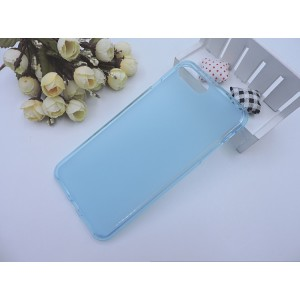 Силиконовый матовый полупрозрачный чехол для Iphone 7 Plus/8 Plus Синий