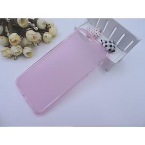 Силиконовый матовый полупрозрачный чехол для Iphone 7 Plus/8 Plus Розовый