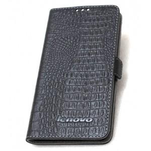 Кожаный чехол горизонтальная книжка текстура Крокодил с крепежной застежкой для Lenovo Vibe P1