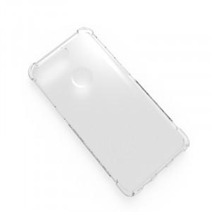 Силиконовый глянцевый транспарентный чехол с нескользящими гранями с усиленными углами для OnePlus 5T