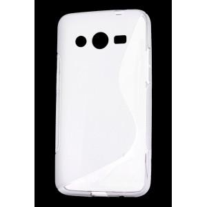 Силиконовый S чехол для Samsung Galaxy Core 2 Белый
