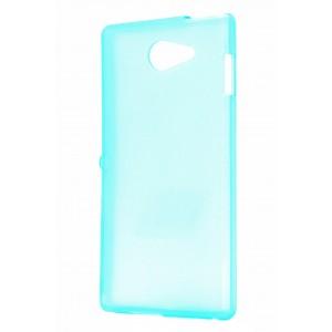Силиконовый чехол для Sony Xperia M2 Голубой