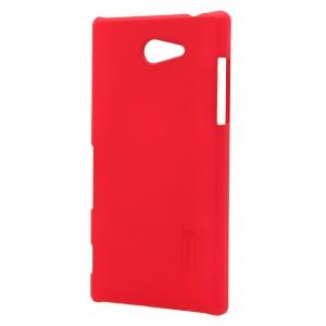 Пластиковый матовый премиум чехол для Sony Xperia M2