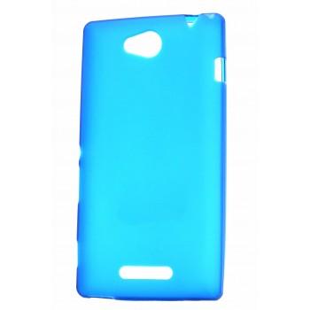 Силиконовый непрозрачный чехол для Sony Xperia C