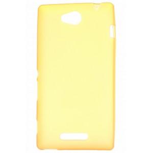 Силиконовый непрозрачный чехол для Sony Xperia C Желтый