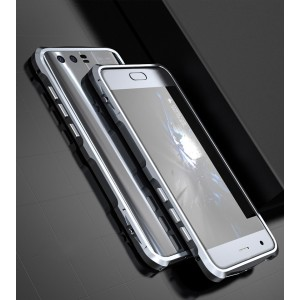 Металлический округлый бампер на пряжке для Huawei Honor 9 Серый