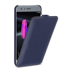 Кожаный чехол вертикальная книжка (премиум нат. кожа) для Huawei Honor 9