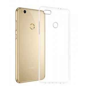Силиконовый глянцевый транспарентный чехол для Huawei Honor 8 Lite