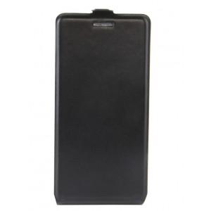 Чехол вертикальная книжка на силиконовой основе с отсеком для карт на магнитной защелке для Huawei Honor 8 Lite Черный