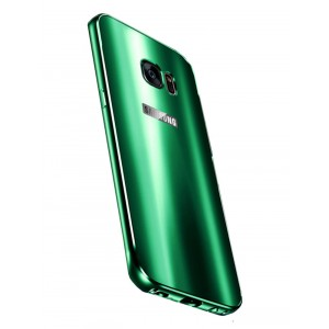 Двухкомпонентный чехол с металлическим бампером и акриловой премиум накладкой со светоотражающим эффектом для Samsung Galaxy S7