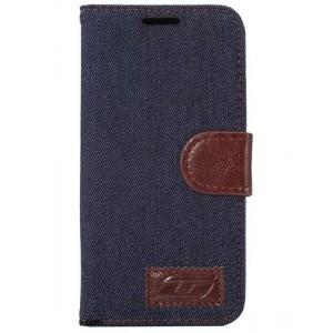 Чехол портмоне подставка с защелкой и тканевым покрытием на силиконовой основе для Samsung Galaxy S7 Черный