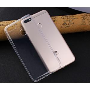 Силиконовый глянцевый транспарентный чехол для Huawei Honor 9 Lite