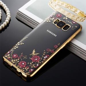 Силиконовый глянцевый полупрозрачный чехол с текстурным покрытием Узоры для Samsung Galaxy S8 Plus