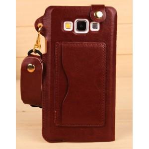 Дизайнерский чехол бампер-каркас с карманом-подставкой для Samsung Galaxy A5