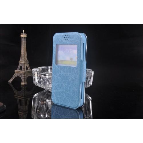 Универсальный (на силиконовой основе) чехол флип с магнитной застежкой и окном вызова для телефона 5.0-5.3 дюймов