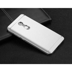 Пластиковый чехол текстурная отделка Кожа для Xiaomi RedMi Note 4 Белый