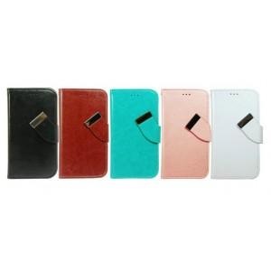 Универсальный (клеевой) чехол флип с магнитной застежкой и отделениями для телефона 5.0 дюйма