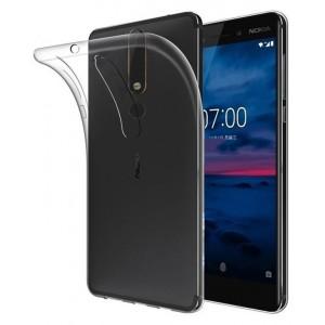 Силиконовый глянцевый транспарентный чехол для Nokia 6 (2018)/Nokia 6.1