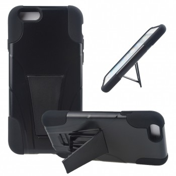 Антиударный силиконовый чехол с поликарбонатной крышкой и ножкой-подставкой для Iphone 6