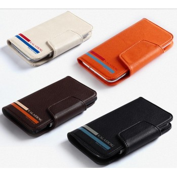 Универсальный (на зажимах) чехол портмоне с магнитной застежкой для телефонов 4.9-5.5 дюймов