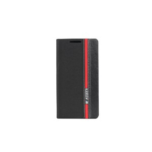 Чехол горизонтальная книжка подставка текстура Линии на силиконовой основе с отсеком для карт для HTC One (M7) One SIM (для модели с одной сим-картой)