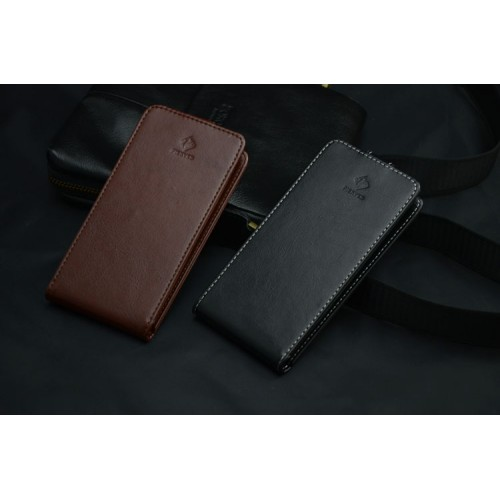 Кожаный чехол вертикальная книжка клеевая для Acer Liquid E600 Коричневый