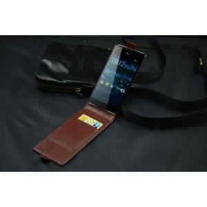 Кожаный чехол вертикальная книжка клеевая для Acer Liquid E600