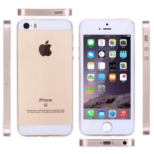 Силиконовый транспарентный чехол для Iphone 5/5s/SE