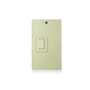 Чехол подставка с рамочной защитой серия Full Cover текстура Золото для Sony Xperia Z3 Tablet Compact Бежевый
