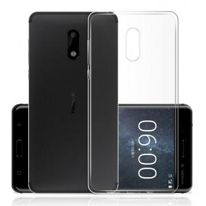 Силиконовый глянцевый транспарентный чехол для Nokia 3