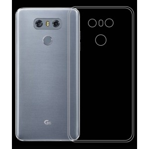 Силиконовый глянцевый транспарентный чехол для LG G6