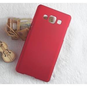 Пластиковый непрозрачный матовый чехол для Samsung Galaxy A3